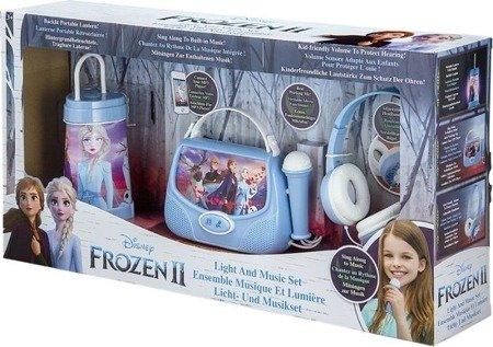 Frozen 2 - zestaw Kraina Lodu 2 3w1 torebka karaoke z mikrofonem, słuchawki, latarenka